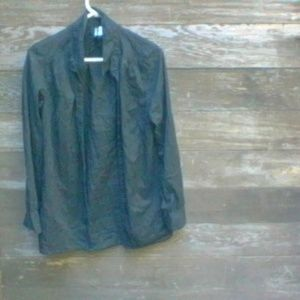 Divided Long Sleeved Black top